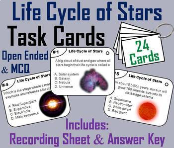 Life Cycle of Stars Task Cards and Activities Mini Bundle