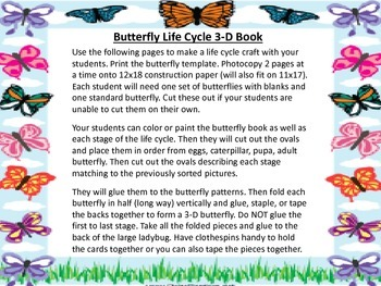 Life Cycle of a Butterfly - 3D Book