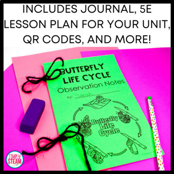 Butterfly Life Cycle Unit Plant and Observation Journal