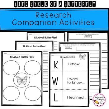 Life Cycle of a Butterfly Activities and Research Companion
