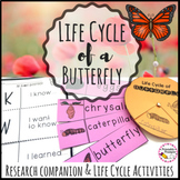 Butterfly Life Cycle Activities and Research Companion