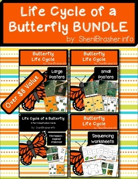 Life Cycle of a Butterfly   BUNDLE   English {SAVE 20%}