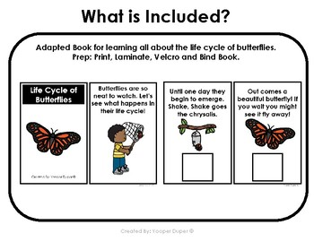 #springdollardeals Life Cycle of a Butterfly Bundle for Special Needs Students