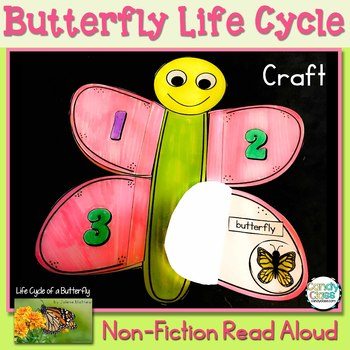 Life Cycle of a Butterfly Craft & Non-Fiction Read Aloud