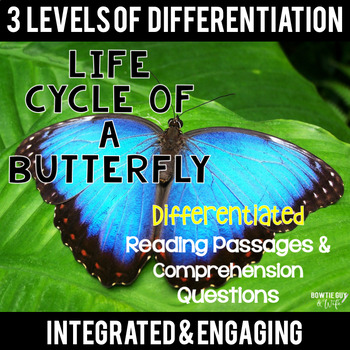 Life Cycle of a Butterfly Differentiated Reading Passages