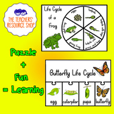 Life Cycle of a Butterfly + Frog