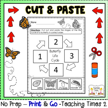 Life Cycle of a Butterfly Hundreds Charts and CUT & PASTE ACTIVITY l SCIENCE