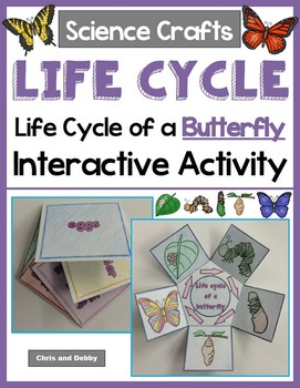 Life Cycle of a Butterfly Craft - Interactive Crafts - Sci