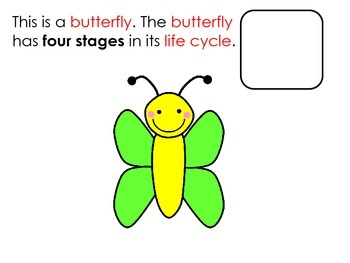 Life Cycle of a Butterfly Interactive Reader and Activities; Science; Autism;