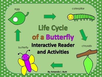 Life Cycle of a Butterfly Interactive Reader and Activitie