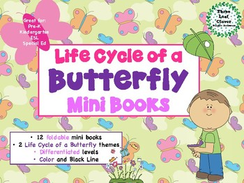 Life Cycle of a Butterfly Mini Books - ESL/ENL, Special Needs, Young Learners