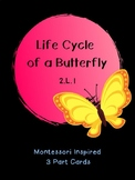 Life Cycle of a Butterfly: Montessori Inspired 3 Part Cards: 2.L.1