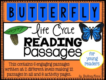 Life Cycle of a Butterfly Reading Comprehension