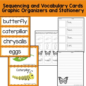 Life Cycle Butterfly With Colored book, mini-book, writing, and more.