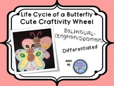 Butterfly Life Cycle Wheel Craftivity {BILINGUAL - English/Spanish}