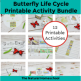 Life Cycle of a Butterfly for Kids ~ 12 Printable Activities Bundle