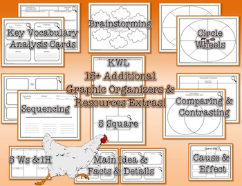 Life Cycle of a Chicken Research Tri-Folds and Graphic Organizers