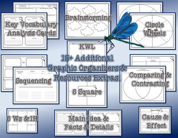 Life Cycle of a Dragonfly Research Tri-Folds and Graphic Organizers