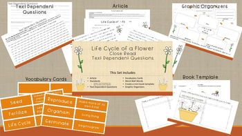 Life Cycle of a Flower       Close Read Text Dependent Questions