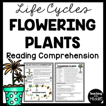 Life Cycle of a Flowering Plant Reading Comprehension Worksheet