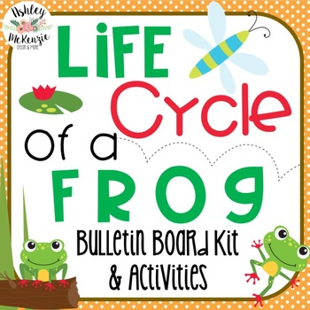 Life Cycle of a Frog Bulletin Board Kit & Craftivity