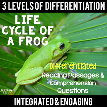 Life Cycle of a Frog Differentiated Reading Passages