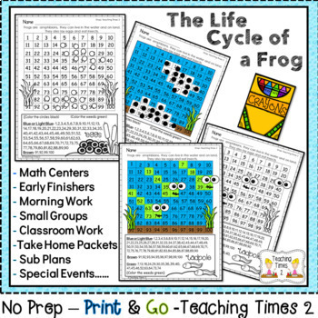 Life Cycle of a Frog Hundreds Chart Hidden Pictures and More