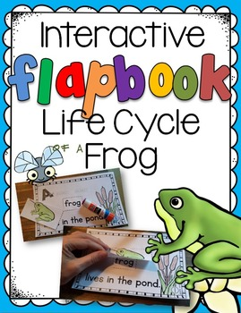 Life Cycle of a Frog Interactive Flapbook - beginning reader - 3 levels
