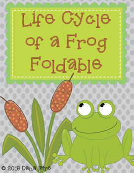 Life Cycle of a Frog Interactive Notebook Foldable