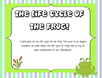 Life Cycle of a Frog Mini Unit