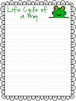 Life Cycle of a Frog Writing Activity