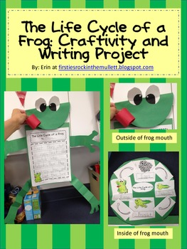 Life Cycle of a Frog Writing Project and Craftivity