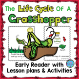 Life Cycle of a Grasshopper Emergent Early Reader ESL Spring Craft & Printables