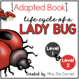 Life Cycle of a Ladybug Adapted Book { Level 1 and Level 2 } Lady bug Life Cycle