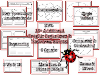 Life Cycle of a Ladybug Research Tri-Folds and Graphic Organizers