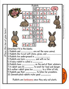 Life Cycle of a Mammal (Rabbit) Tab Booklet