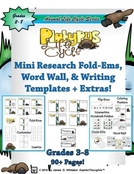 Life Cycle of a Platypus Research Fold-Ems and Activities
