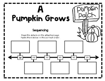 Life Cycle of a Pumpkin! An Integrated ELA and Science Pack