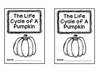 Life Cycle of a Pumpkin Mini Booklet