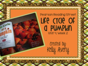 Life Cycle of a Pumpkin Reading Street 2nd Grade 4.2
