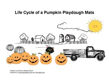 Life Cycle of a Pumpkin Playdough Mats