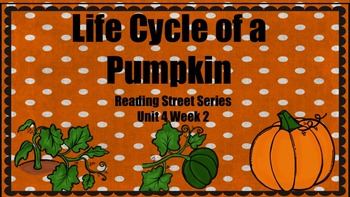 Life Cycle of a Pumpkin {Reading Street Series Grade 2}