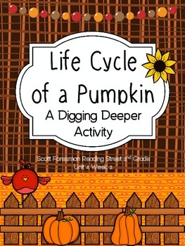 Life Cycle of a Pumpkin - Scott Foresman 2nd Grade - Digging Deeper Activity