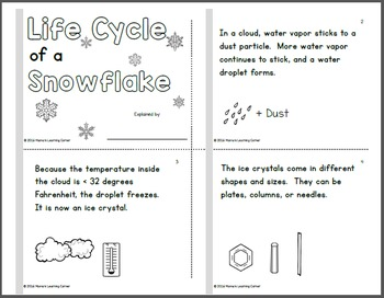 Life Cycle of a Snowflake Booklet
