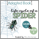 Life Cycle of a Spider Adapted Book [ Level 1 and Level 2 ] | Spider Life Cycle