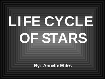Life Cycle of a Star Powerpoint