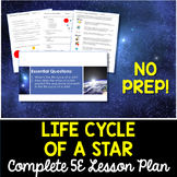 Life Cycle of a Star Complete 5E Lesson Plan - Distance Learning