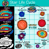 Life Cycle of a Star Clip Art | Astronomy Graphics for Sci