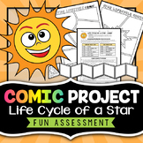 Life Cycle of a Star - Comic Strip Project