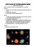 Life Cycle of a Star Speed Game